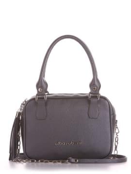 Модна сумка маленька, модель 190243 графіт. Зображення товару, вид спереду.