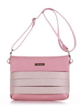 Стильная сумка маленькая, модель 190353 пудрово-розовый. Изображение товара, вид спереди.