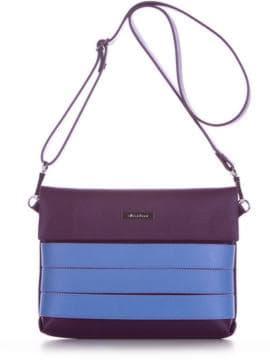 Летняя сумка маленькая, модель 190355 баклажан. Изображение товара, вид спереди.