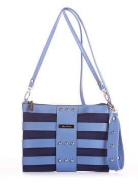 Модный клатч, модель 190191 синий. Изображение товара, вид спереди.