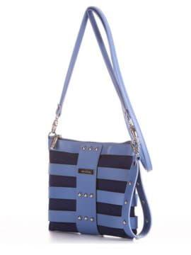 Модный клатч, модель 190191 синий. Изображение товара, вид сбоку.