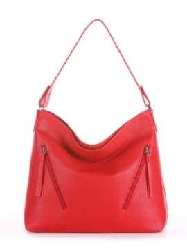 Летняя сумка, модель 190013 красный. Изображение товара, вид спереди.