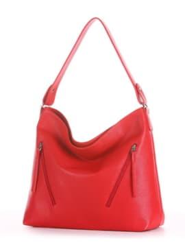 Летняя сумка, модель 190013 красный. Изображение товара, вид сбоку.