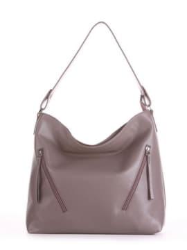 Летняя сумка, модель 190014 темно-серый. Изображение товара, вид спереди.