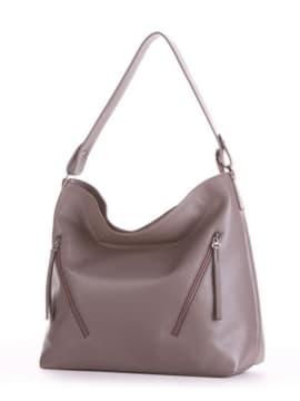 Летняя сумка, модель 190014 темно-серый. Изображение товара, вид сбоку.