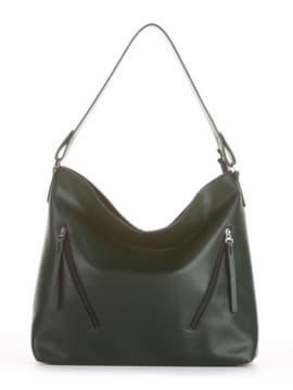 Летняя сумка, модель 190017 темно-зеленый. Изображение товара, вид спереди.