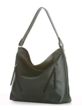 Летняя сумка, модель 190017 темно-зеленый. Изображение товара, вид сбоку.