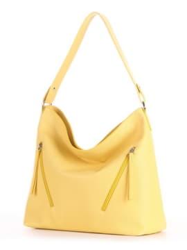 Летняя сумка, модель 190018 желтый. Изображение товара, вид сбоку.
