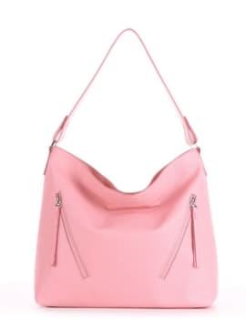 Летняя сумка, модель 190019 пудрово-розовый. Изображение товара, вид спереди.