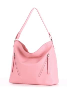 Летняя сумка, модель 190019 пудрово-розовый. Изображение товара, вид сбоку.