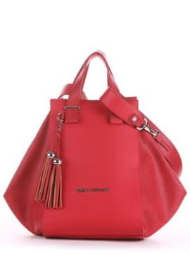 Летняя сумка, модель 190022 красный. Изображение товара, вид спереди.