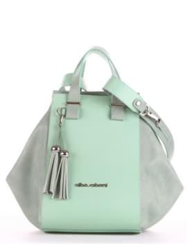 Летняя сумка, модель 190024 мята. Изображение товара, вид спереди.