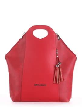 Летняя сумка, модель 190032 красный. Изображение товара, вид спереди.