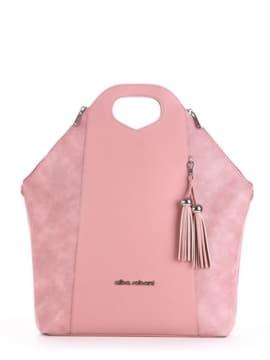 Модная сумка, модель 190033 роза. Изображение товара, вид спереди.
