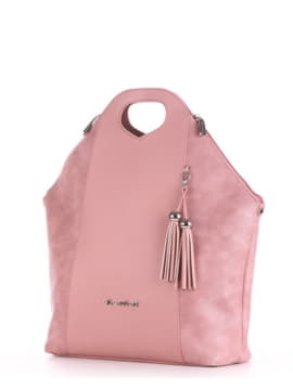 Модная сумка, модель 190033 роза. Изображение товара, вид сбоку.
