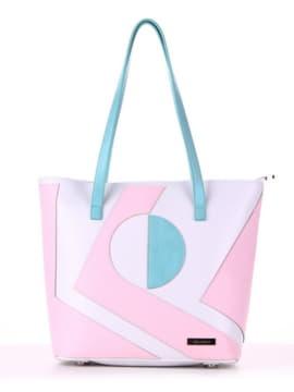 Летняя сумка с вышивкой, модель 190103 белый. Изображение товара, вид спереди.