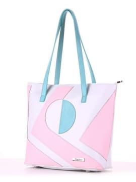 Летняя сумка с вышивкой, модель 190103 белый. Изображение товара, вид сбоку.