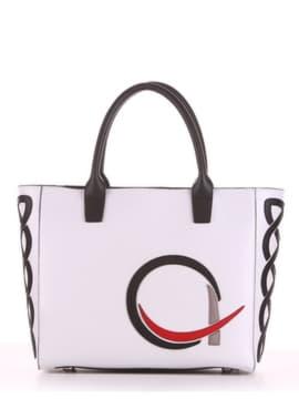 Летняя сумка с вышивкой, модель 190114 белый. Изображение товара, вид спереди.