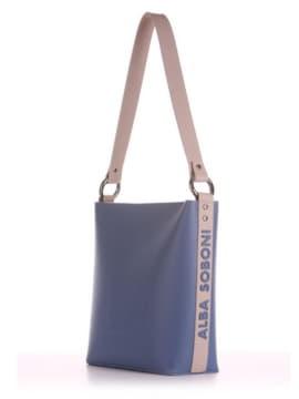 Летняя сумка, модель 190142 голубой. Изображение товара, вид сбоку.