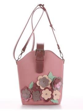 Летняя сумка, модель 190263 пудрово-розовый. Изображение товара, вид спереди.