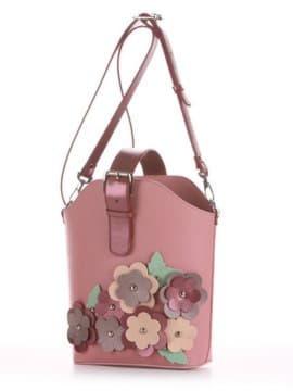 Летняя сумка, модель 190263 пудрово-розовый. Изображение товара, вид сбоку.