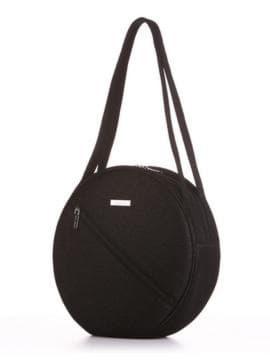 Стильная сумка, модель 190301 черный. Изображение товара, вид сбоку.