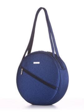Летняя сумка, модель 190302 синий. Изображение товара, вид сбоку.