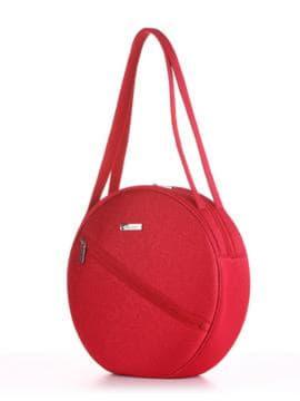 Модная сумка, модель 190303 красный. Изображение товара, вид сбоку.