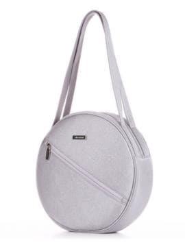 Летняя сумка, модель 190304 серебро. Изображение товара, вид сбоку.