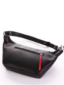 Летняя сумка через плечо, модель 190081 черный. Изображение товара, вид сзади.