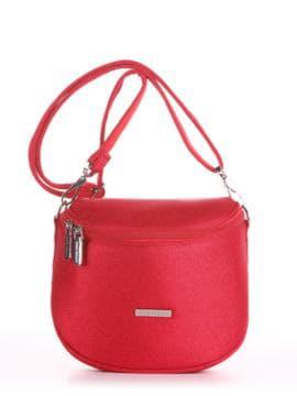 Летняя сумка через плечо, модель 190323 красный. Изображение товара, вид спереди.