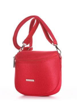 Летняя сумка через плечо, модель 190323 красный. Изображение товара, вид сбоку.