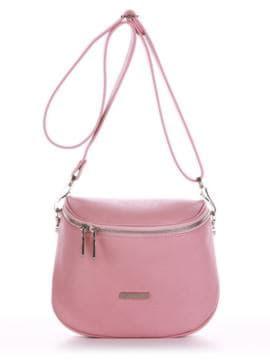 Брендовая сумка через плечо, модель 190343 пудрово-розовый. Изображение товара, вид спереди.