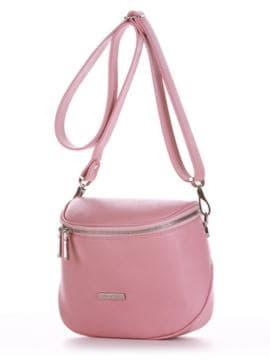 Брендовая сумка через плечо, модель 190343 пудрово-розовый. Изображение товара, вид сбоку.