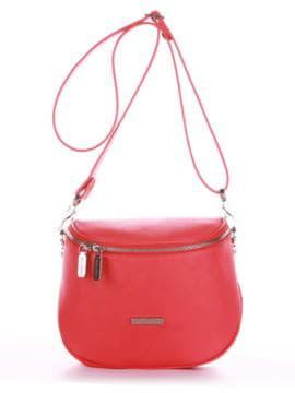 Брендовая сумка через плечо, модель 190344 красный алый. Изображение товара, вид спереди.