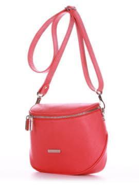 Брендовая сумка через плечо, модель 190344 красный алый. Изображение товара, вид сбоку.
