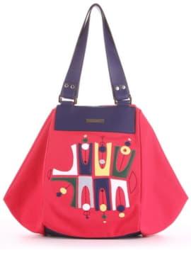 Женская cумка с вышивкой, модель 190042 красный. Изображение товара, вид спереди.