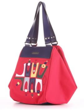 Женская cумка с вышивкой, модель 190042 красный. Изображение товара, вид сбоку.
