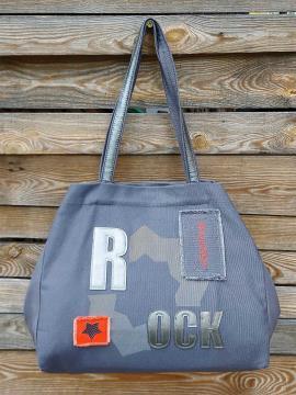 Фото товара: сумка 200241 темно-сірий. Вид 1.