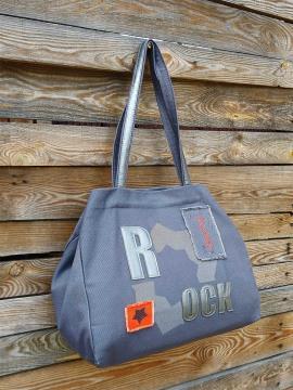 Фото товара: сумка 200241 темно-сірий. Вид 2.