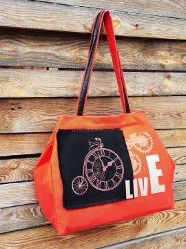 Фото товара: сумка 200243 оранжевий. Вид 2.