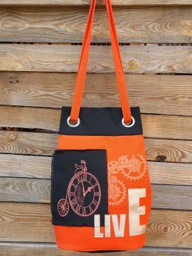 Фото товара: сумка-рюкзак 200253 оранжевий. Вид 1.
