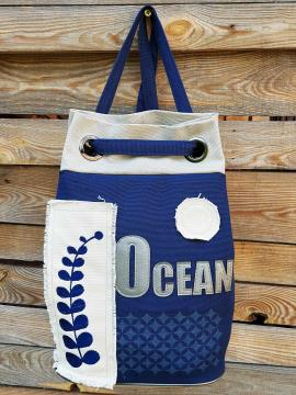 Фото товара: сумка-рюкзак 200254 синий. Вид 1.