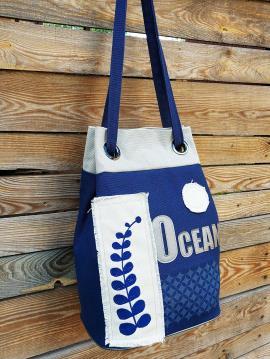 Фото товара: сумка-рюкзак 200254 синий. Вид 2.