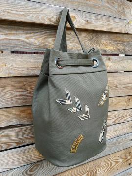 Фото товара: сумка-рюкзак 200256 хакі. Вид 2.