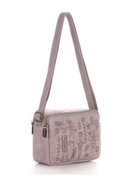 Фото товара: сумка через плече 200048 світло-сірий. Вид 1.