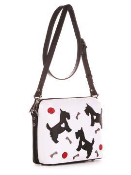 Фото товара: сумка через плече 200092 білий-чорний. Вид 2.