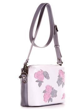 Фото товара: сумка через плечо 200093 белый-серый. Вид 2.