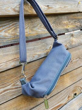Фото товара: сумка на пояс 200261 темно-сірий. Вид 2.