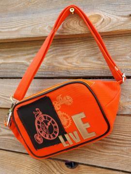 Фото товара: сумка на пояс 200263 оранжевий. Вид 1.